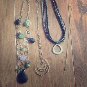 Jewelry - 4 gold tone necklaces